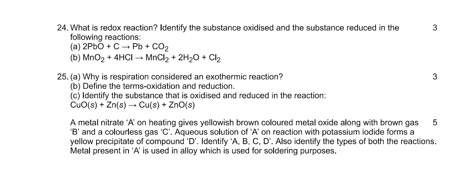 Chemical Reactions and Equations 03