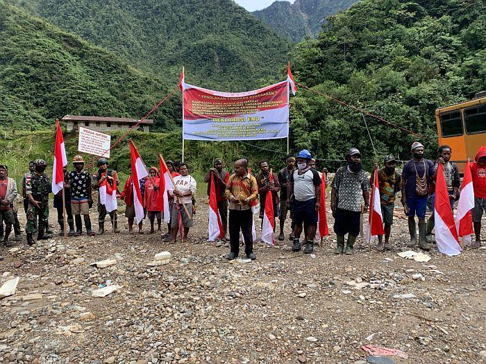 Tolak KKB, Warga Pegunungan Papua: Kami Tolak Keras Pangganggu Keamanan Kampung Kami!