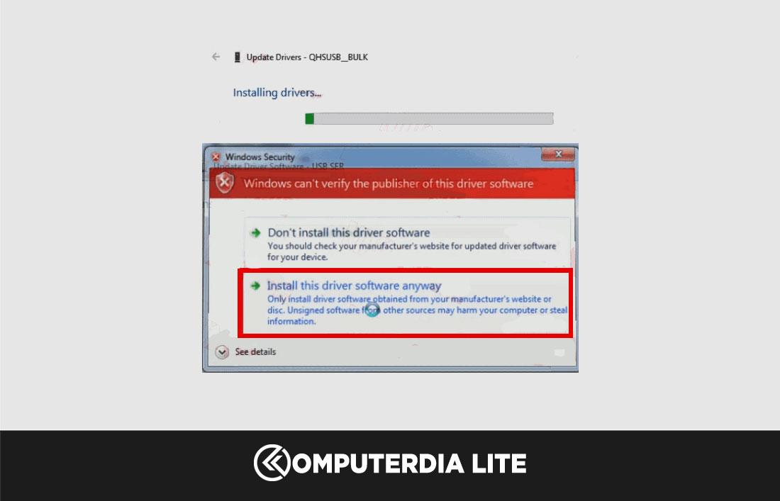 Cara Install Driver Qualcomm HS-USB QDLoader 9008 Pada Komputer atau Laptop