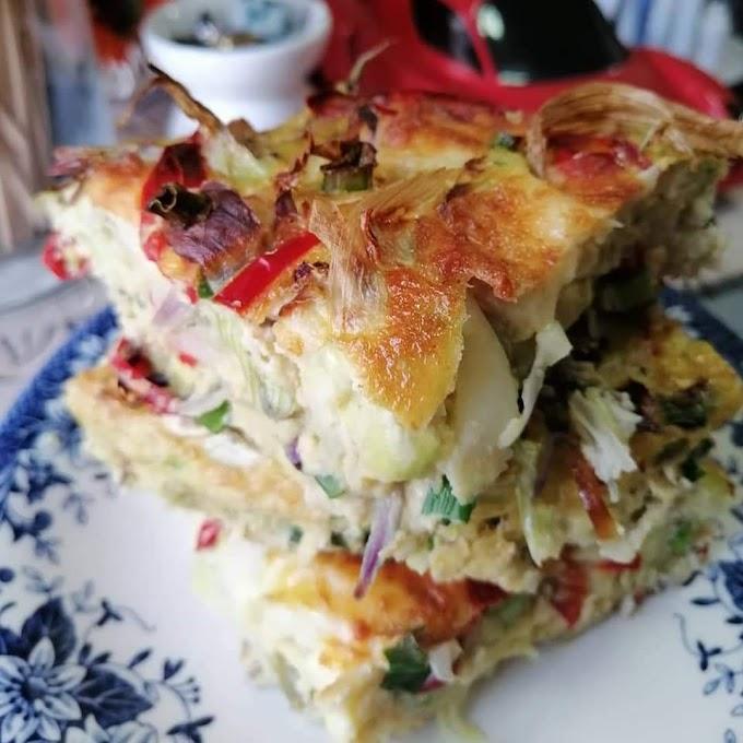 Resepi Quiche Egg w Mozzarella Cheese