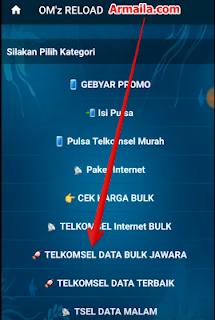 Pilih kategori Telkomsel Data Bulk Jawara