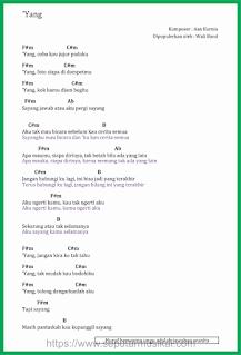 chord lagu yank band wali