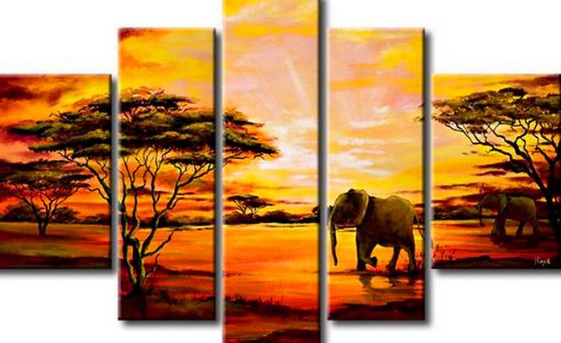 paisajes decorativos al oleo