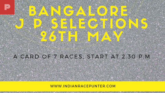 Bangalore Jackpot Selections 26th May