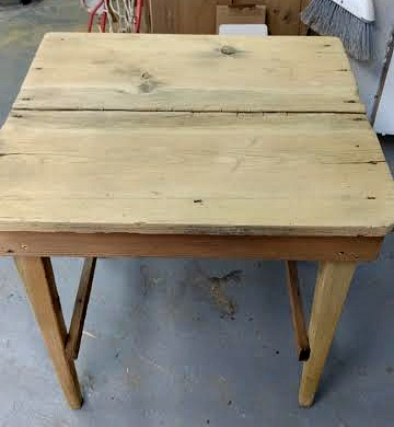 rustic table from a garage sale