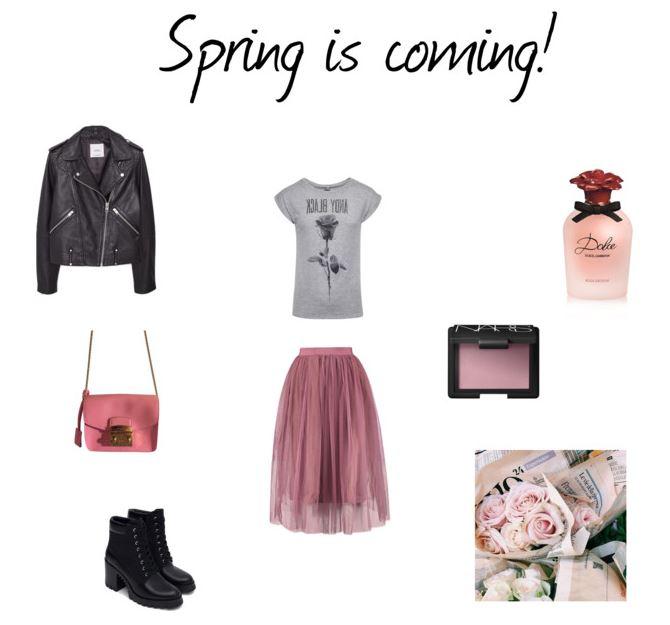 Rock&Romantic stylizacja na wiosnę z tiulową spódnicą, blog modowy, porady modowe