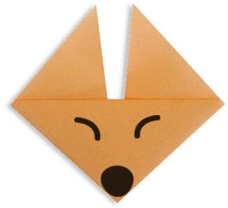Origami Fox Face