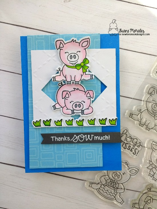 Thanks sow much by Diane features Moo, Oink, and Argyle by Newton's Nook Designs; #newtonsnook