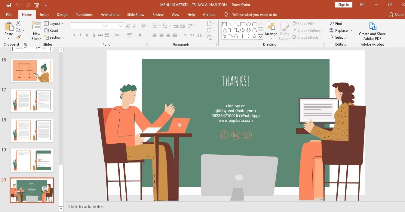 Cara Membuat Presentasi Powerpoint Menarik Dari Template Gratis Pojokata