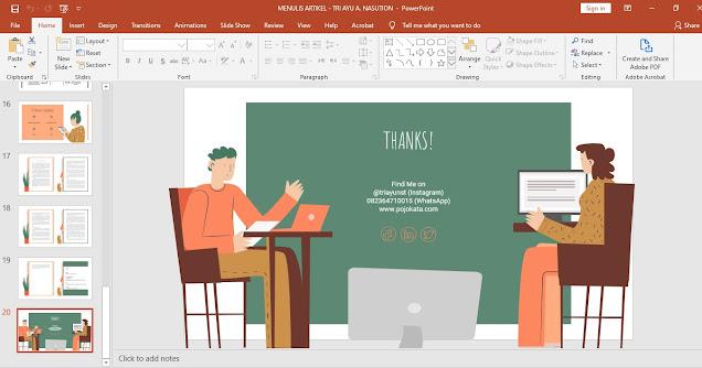 Contoh dan Cara Membuat Presentasi PowerPoint Menarik dari Template Gratis