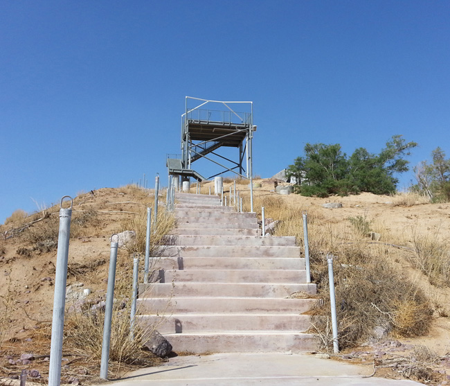 Abandoned Lake Dolores Rock-A-Hoola Water Park in the Mojave Desert in Newberry Springs California