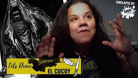 Lets Draw El Cucuy - Latin X-Files - #Inktober 2019- Day 01