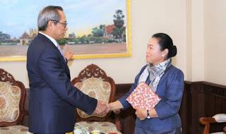 Pertemuan Duta Besar RI Vientiane Dengan Wakil Menteri Luar Negeri Laos.