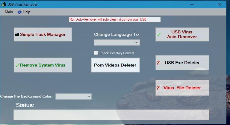 Auto virus remover