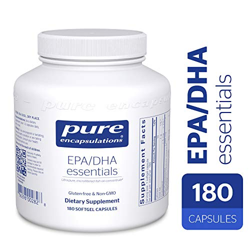 The best Pure Encapsulations - EPA/DHA Essentials - Ultra-Pure. Molecularly Distilled Fish Oil Concentrate - 180 Softgel Capsules 2019 ...