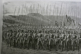 The Swiss forces mass to celebrate victory at Novara