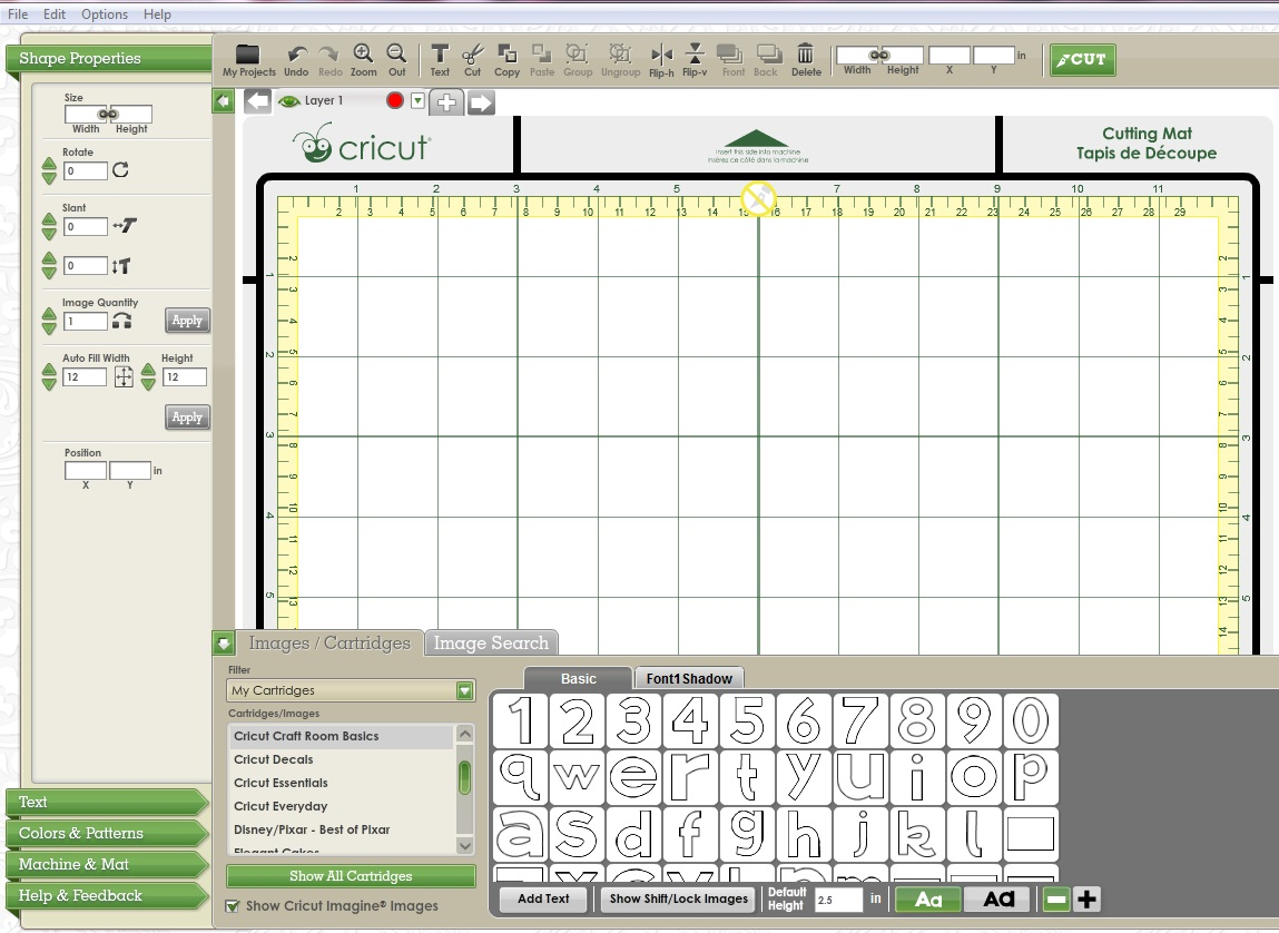 Free Cricut Craft Room: Cricut CraftRoom Blog: The Basics
