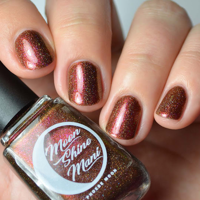 brick red holographic multichrome nail polish