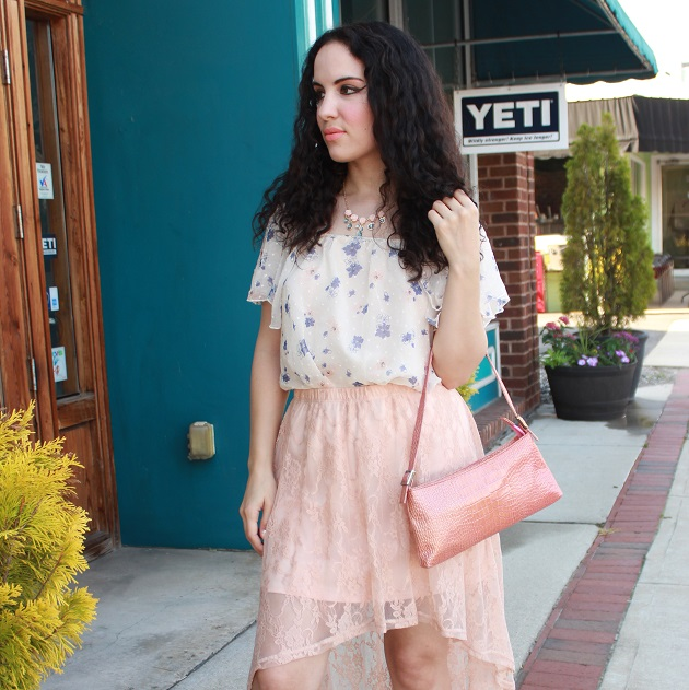Peach Lace Skirt