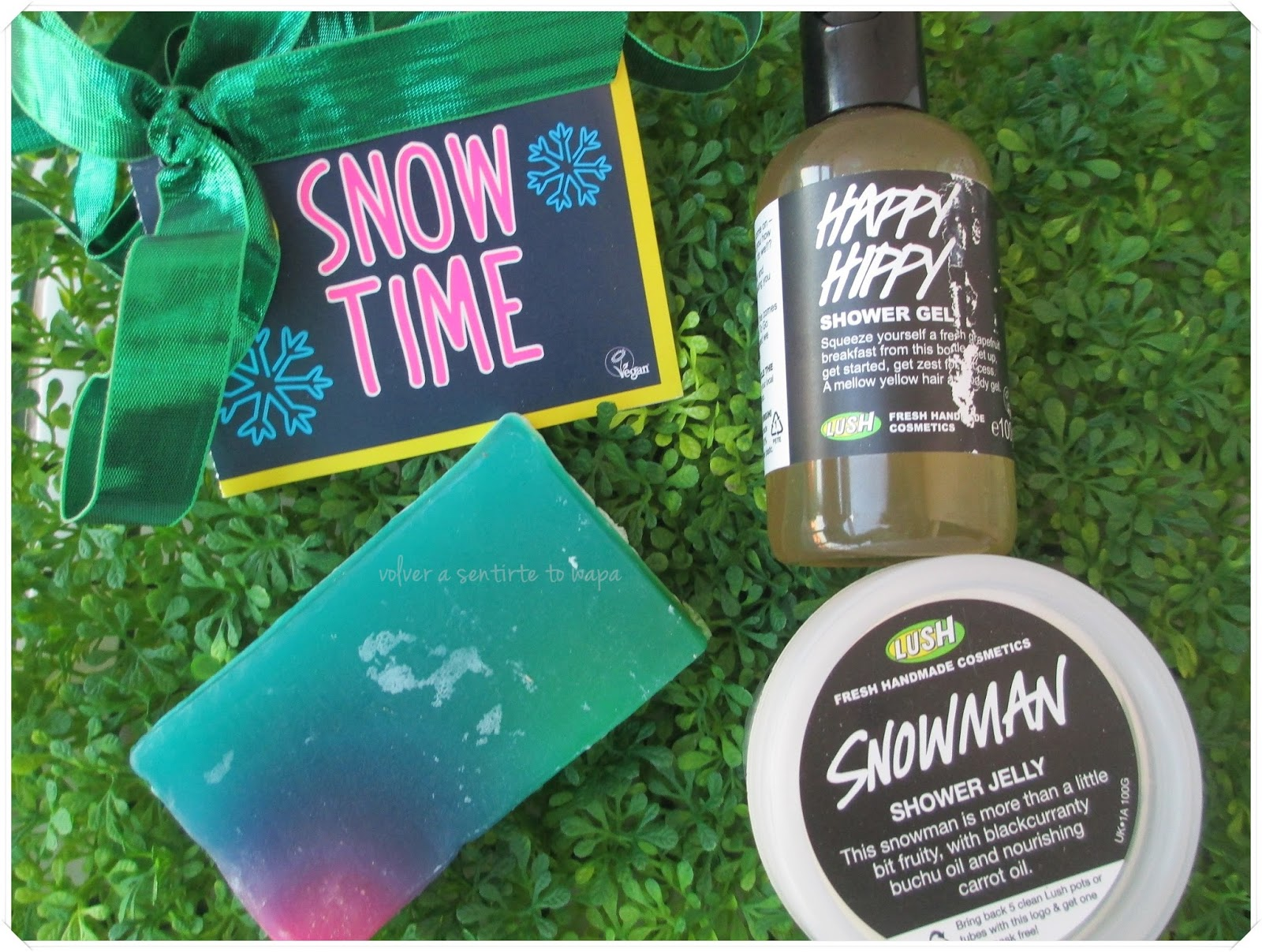 Lush Snow Time: Gel Happy Hippy, Gelatina Snowman y Jabón Baked Alaska