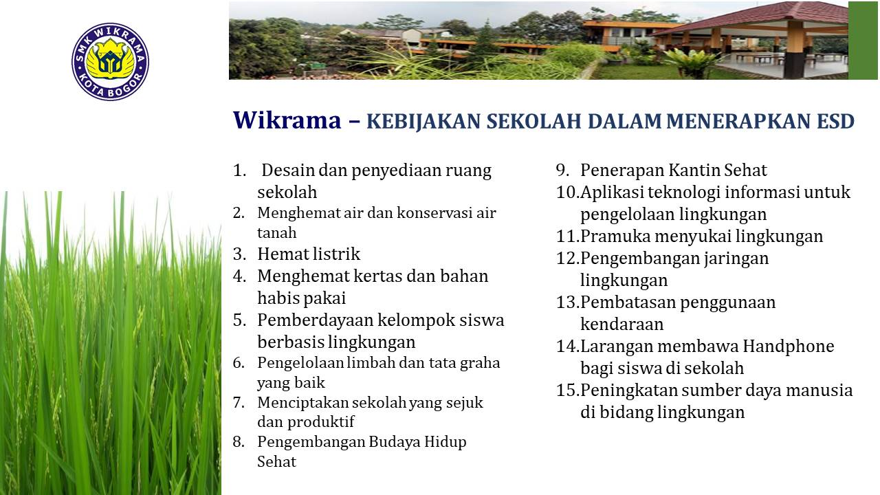 Kebijakan ESD SMK WIkrama