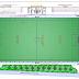 مخطط تفاصيل بناء ملعب من العشب الاصطناعي اوتوكاد dwg