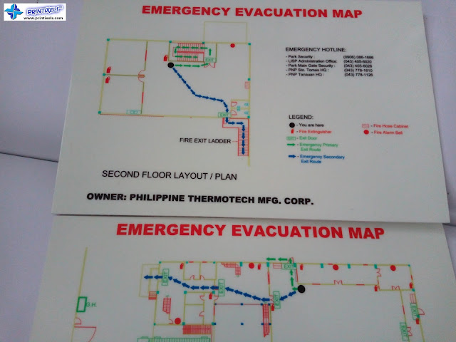 Glow in the Dark Emergency Evacuation Maps - Philippine Thermotech Mfg. Corp.