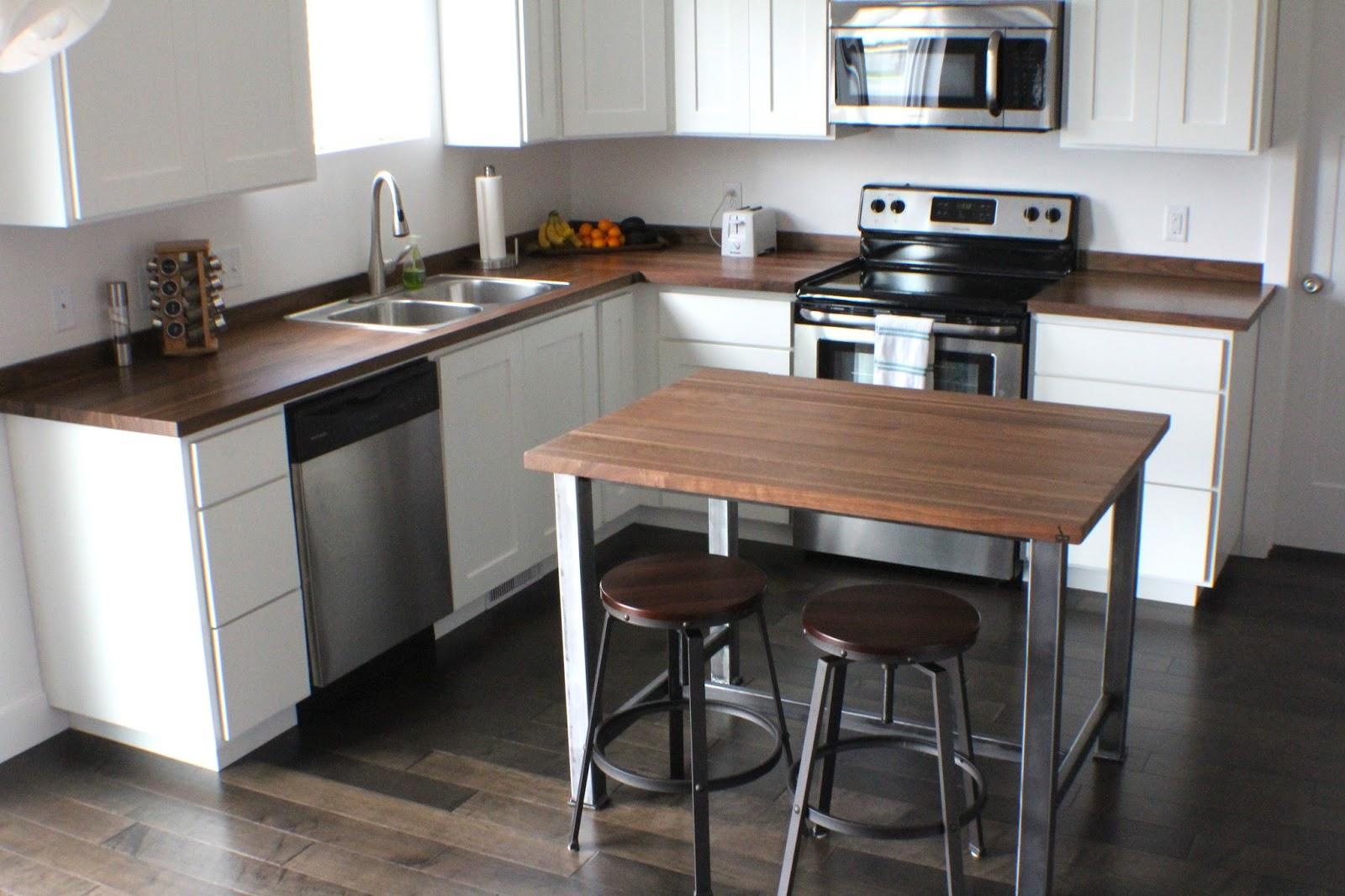 Butcher Block Countertop In Kitchen : Butcher Block Countertop Kitchen Reveal - Lou Lou Girls