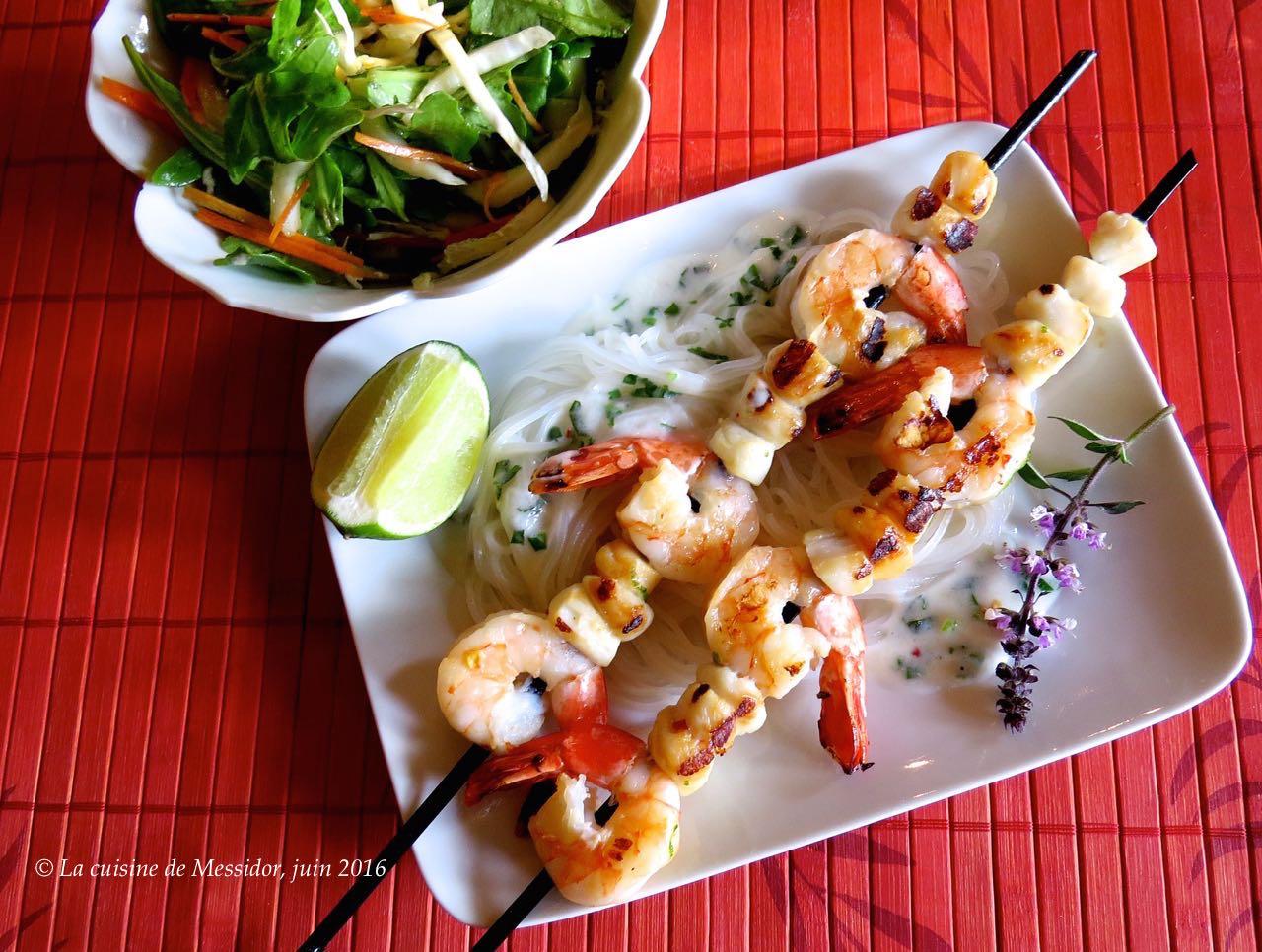 La cuisine de messidor repas de crevettes la tha landaise for Repas de cuisine