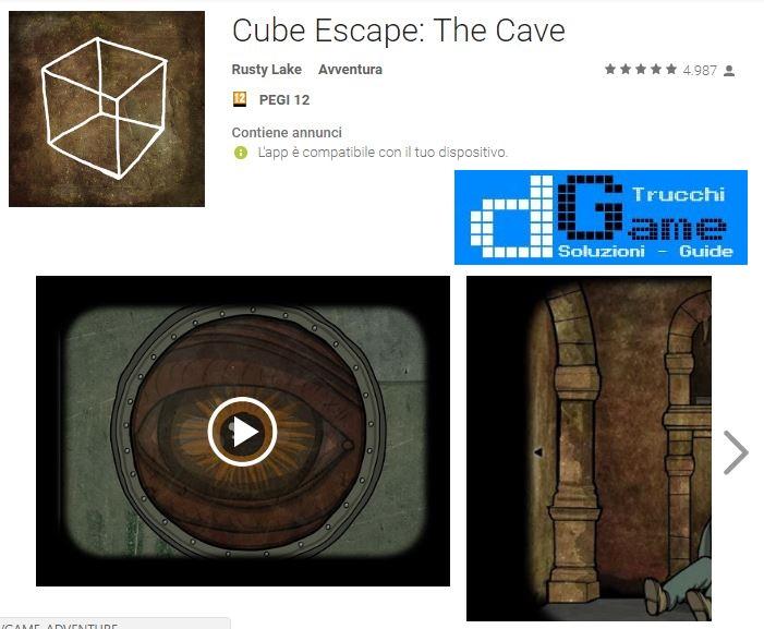 Soluzioni Cube Escape: The Cave livello Unico | Trucchi e Walkthrough level