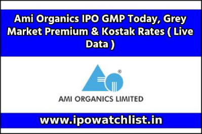 Ami Organics IPO GMP Today, Grey Market Premium