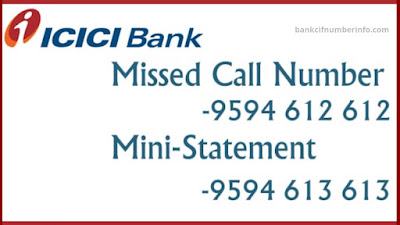 ICICI Bank Balance Check by Missed call