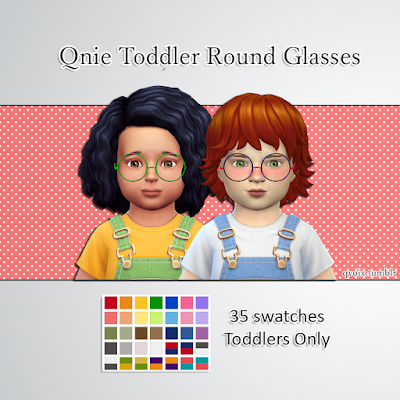 Qnie Toddler Round Glasses