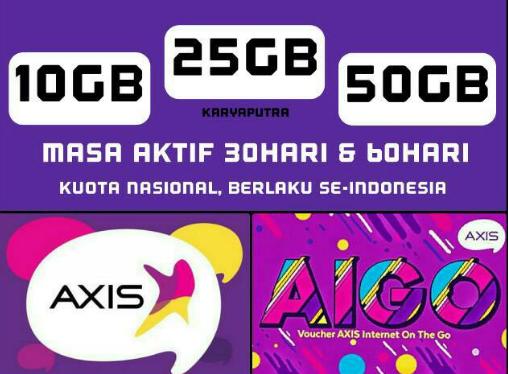 Paket data Termurah Axis Aigo 25gb dan 50GB