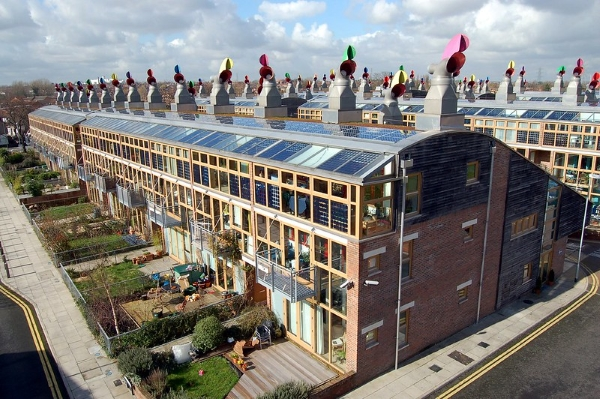 BedZED-londra-nearly zero energy building