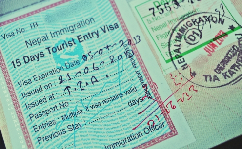 On Arrival Visa Nepal-- On Arrival Tourist Visa sample