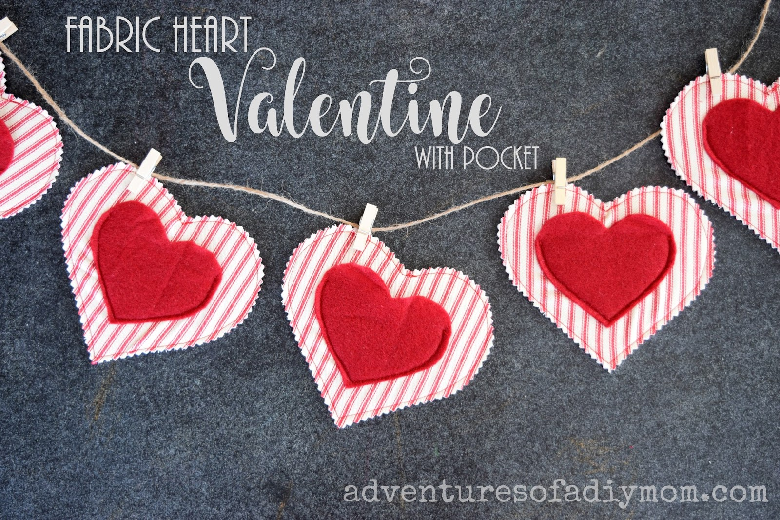 how to make a fabric heart valentine with a pocket adventures of