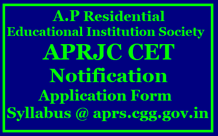 APRJC 2017 Notification, Exam dates, Application form,Eligibility Criteria|APRJC CET 2017 Notification, Exam dates, Fee, Eligibility|APRJC 2017 online application form notification hall tickets exam date| APRJC 2017 admission notification| Andhra Pradesh Residential Junior College 2017 Notification| Apply online for APRJC 2017 at aprs.cgg.gov.in APRJC CET 2017 - Andhra pradesh Residential Junior College Common Entrance Test (APRJC) is a well known entrance test for admission to Intermediate courses like MPC/BI.P.C/MEC/CEC in Residential Junior Colleges in AP State for the academic year 2017-2018.Andhra pradhesh state government provides high class education to who are unable to study in leading private institutions .In this colleges, they are providing EAMCET Coaching and other competitive exams as well.APRES (AP Residential Education Society) will announce the APRJC 2017 Notification in 1st week of March 2017.So eligible candidates those who are interested may apply online only.To know more details regarding APRJC 2017 fee,Eligibility,Exam date,How to Apply/2017/03/aprjc-2017-notification-exam-dates-applicationform-eligibility-criteria-halltickets-results-aprs-cgg-gov-in.html