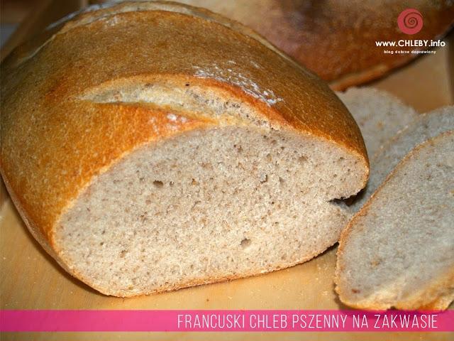 Francuski chleb pszenny na zakwasie