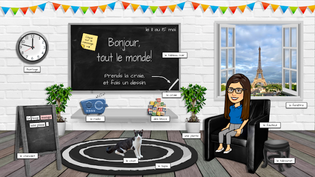 My Virtual French Classroom in Google Slides - D. Mancuso