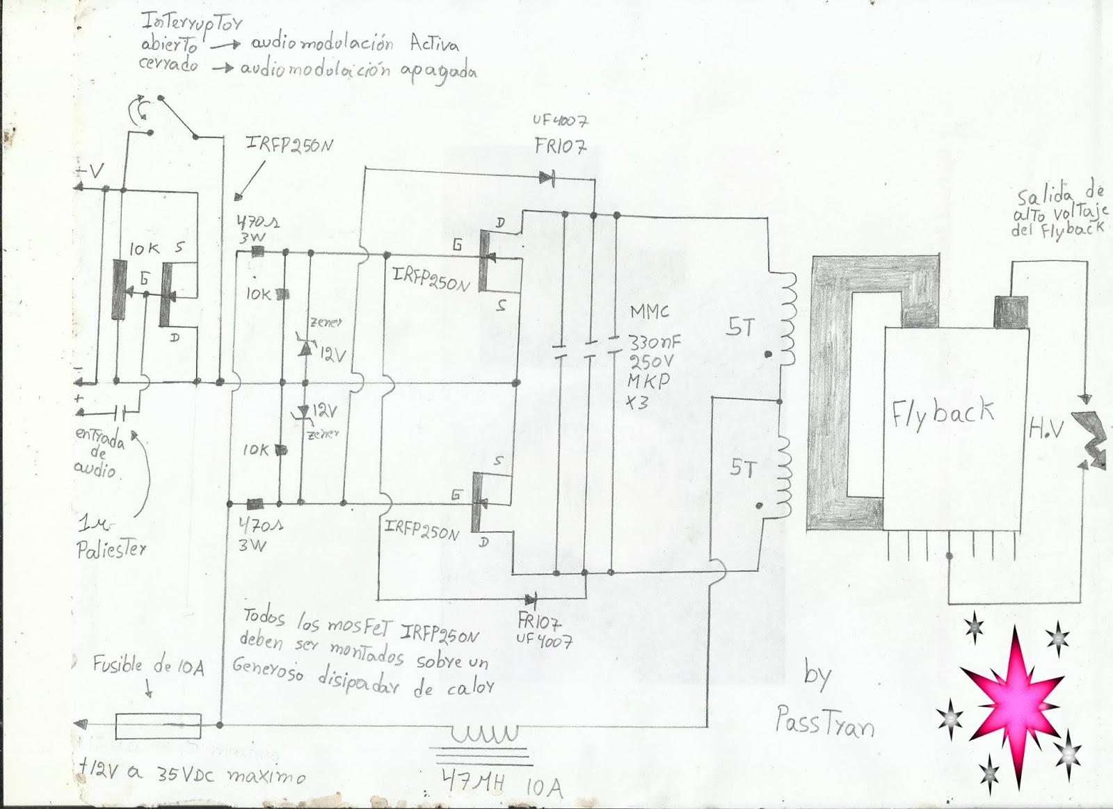 Ponyelectronica : circuito de control para flyback ... on power schematic, nautilus schematic, audio schematic, capacitor schematic,