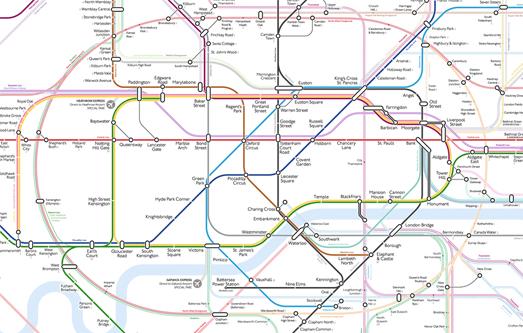 Map Around London.Maps Mania Redesigning The London Underground Map
