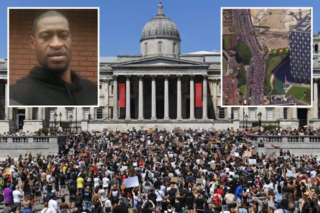 Thousands Join UK Protest over the brutal killing of George Floyd
