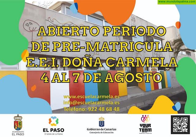Escuela de Educación Infantil Doña Carmela de El Paso abre su prematricula