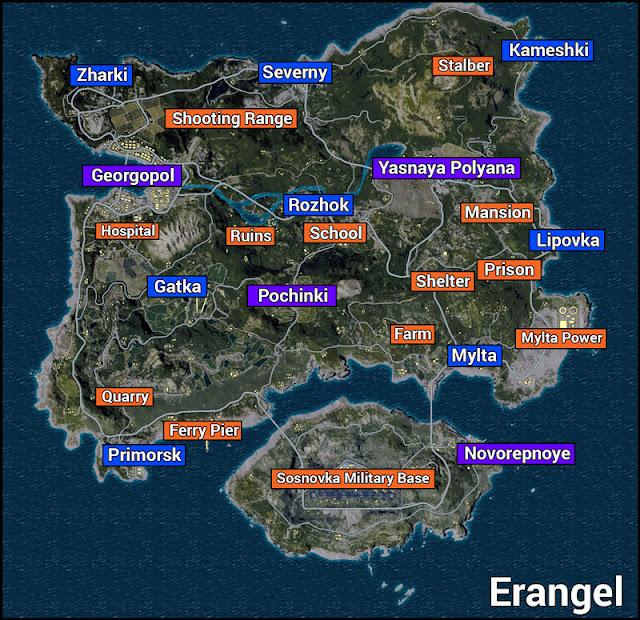 Mantab Soul! 7 Drop Spot Map Erangel PUBG Ini Kaya Akan Senjata