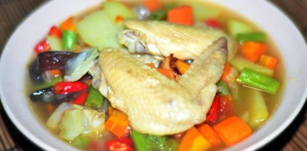 Resep Sayur Sop Sayap Ayam Enak dan Lezat