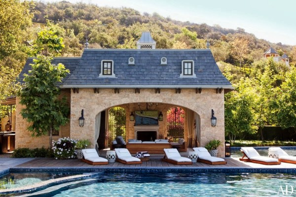 For Those In The Camp That A Pool House Can Be What Ever You Want It To Fantasy Inspired By Something Saw On Trip Of Another Time Or