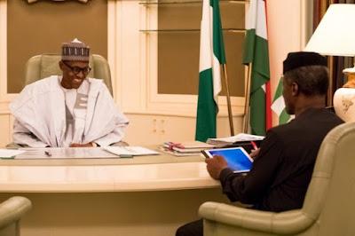 Vice Presisent Osinbajo briefs President Muhammadu Buhari