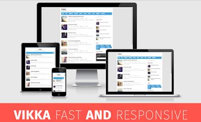 vikka fast blogger template