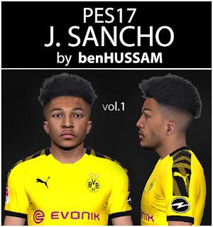 PES 2017 Faces Jadon Sancho by BenHussam